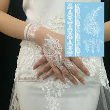 1piece indian arabic white henna tattoo paste lace designs wedding