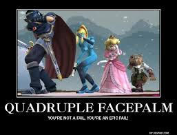 Funny Meme Posters - old demotivational poster quadruple facepalm by alphamoxley95 on