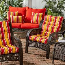 High Back Patio Chair Cushion Amazon Com Greendale Home Fashions Indoor Outdoor High Back Chair