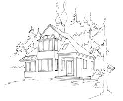 House Drawing by Knight Architect Llc U2013 A Sunny Place In The Forest