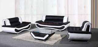 white leather 2 seater sofa black and white leather sofa set with white and black bonded