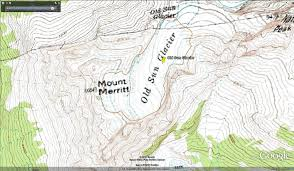 Map Of Glacier National Park Old Sun Glacier Glacier National Park Slow Retreat From A
