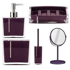 Lavender Bathroom Accessories by 5pcs Purple Bathroom Accessories Set Soap Dish Lotion Dispenser