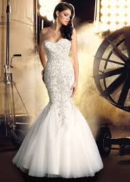 strapless mermaid wedding dresses with bling brides dresses