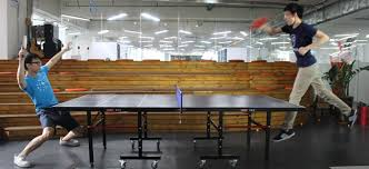 ping pong table playing area trainerbot smart table tennis robot by trainerbot kickstarter