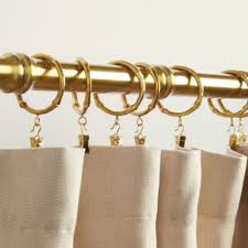 curtain rings gold images Bamboo drapery rings set of 10 ballard designs ballard designs