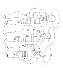 community bank of elmhurst u003e three amigos coloring page