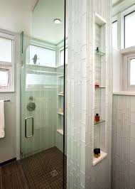 Glass Bathroom Tiles Recessed Bathroom Tile Niches Glass Contemporary With Corner Niche