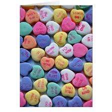 sweetheart candy sweetheart candy sayings s day card zazzle