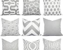 grey decorative pillows etsy