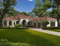 one story homes exterior one story home mediterranean style home building plans