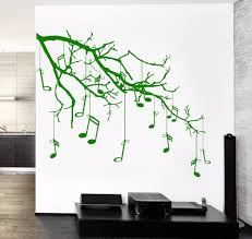 online get cheap music note tree wall decal aliexpress com free shipping music wall sticker new popular wall vinyl music tree branch notes cool guaranteed quality