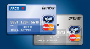 free debit card arco debit mastercard cheap gas no credit card fees