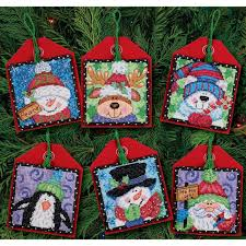 pals ornaments counted cross stitch kit