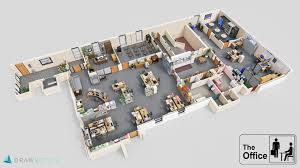 3d floorplan of the office dundermifflin