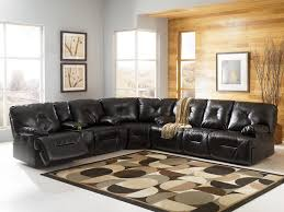 leather reclining sectional popular furniture direct buy