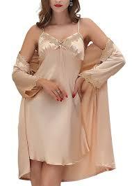 robe de chambre dentelle aivtalk ensemble 2pcs luxe peignoir avec ceinture satin robe de