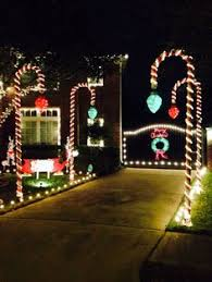 Candy Cane Outdoor Decorations Amazon Com Christmas Lawn Decorations Hanging Candy Canes Set