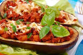 cuisiner l aubergine recette aubergines farcies aux 2 viandes et au fromage