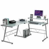 Z Line Belaire Glass L Shaped Computer Desk Z Line Belaire Glass L Shaped Computer Desk