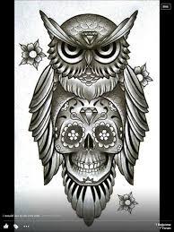 owl n skull things i love pinterest body art and tattoo