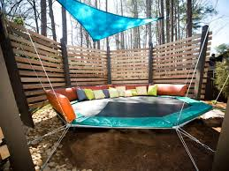 backyard trampoline ideas home outdoor decoration