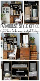 farmhouse style office area on a budget the country chic cottage