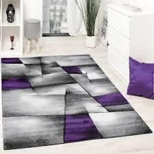 Modern Purple Rug Designer Woven Rug Heavy Soft Living Room Mat Modern Purple