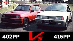 renault r5 turbo gt6 renault r5 turbo u002780 vs peugeot 205 turbo 16 u002785 eiger