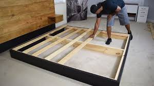diy platform bed with floating night stands hometalk