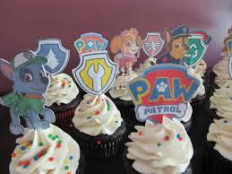 paw patrol cupcake toppers paw patrol cupcake picks badges