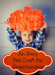 an easy fall pumpkin craft for toddlers and preschoolers bare