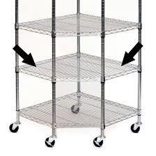 Wire Rack Shelf Chrome Steel Wire Corner Shelf For Item She15245 Or She15247
