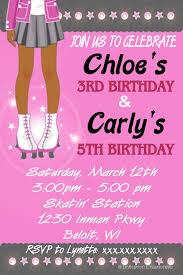 5th birthday party invitation roller skating birthday party invitations free printable birthday