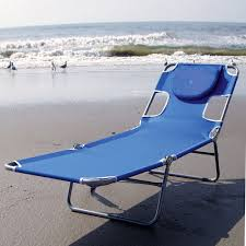 Folding Chaise Lounge Ostrich Face Down Chaise Lounge Folding Beach Lounger By Ostrich