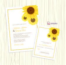 invitation kits for wedding sunflower wedding invitation rsvp templates wedding
