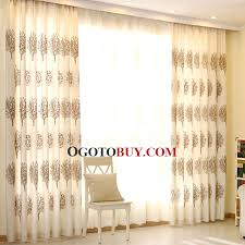 high quality linen cotton country style curtains in beige color