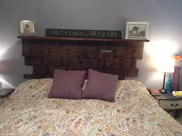 Headboards Wall Mounted Headboard Of Reclaimed Wood For The Home