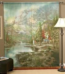 Amazon Kitchen Curtains by Thomas Kinkade Window Art Curtains Thomas Kinkade Curtains Windows
