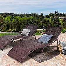 amazon com best choice products adjustable modern wicker chaise