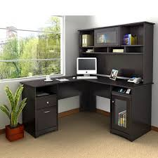 L Shape Table L Shaped Office Desk White File Cabinet Black Accent Color Black