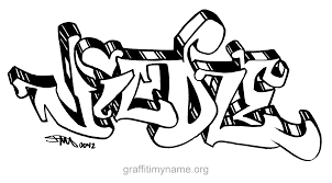 awesome graffiti name michael with name coloring pages