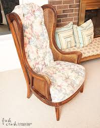 Reupholster Armchair Tutorial Learn How To Upholster A Chair Wingback Chair Makeover