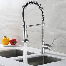 spring pull out kitchen faucet single handle pull down kitchen
