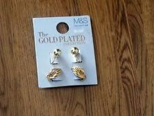 clip on earrings accessorize accessorize 6 pairs of gold plated earrings ebay