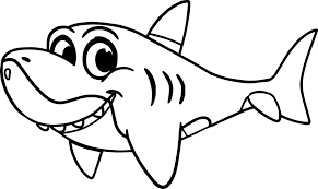 animal winter coloring pages simple coloring pages shark