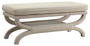 bench white upholstered bench white suede fabric upholstered