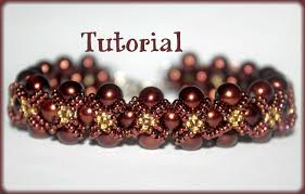 pearl beads necklace images Pearls and seed beads beading pattern pdf bracelet or necklace jpg