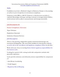 Resume English Sample by Discover 100 Job Descriptions In Risk And Compliance Management And W U2026