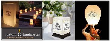 luminaries custom luminary sky lanterns for weddings events